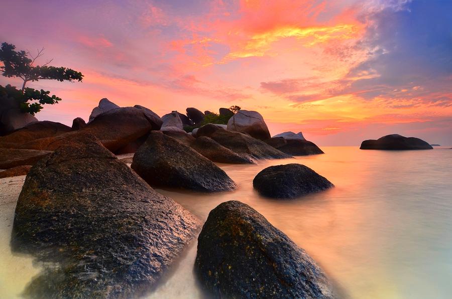 Lengkuas Sunrise  by Tatam Jepreter - Landscapes Waterscapes