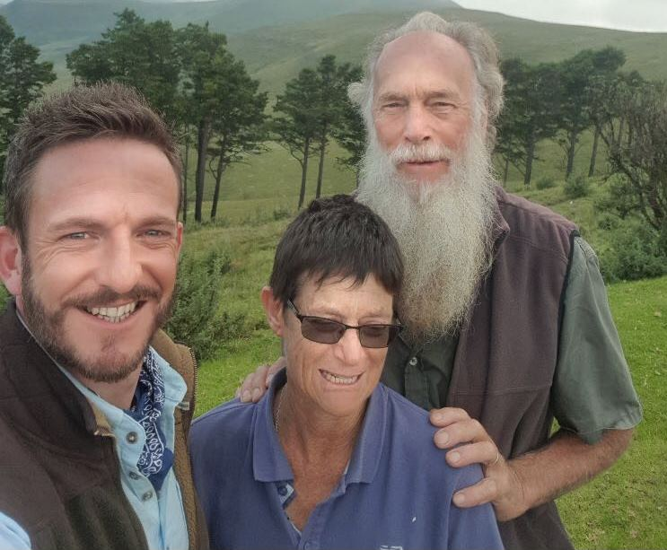Horticulturalist and BBC presenter Nick Bailey posted this selfie with British couple Rod and Rachel Saunders on February 8.