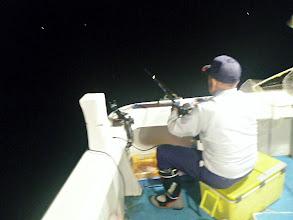 Photo: 日が落ちて、イサキの夜釣りスタート!