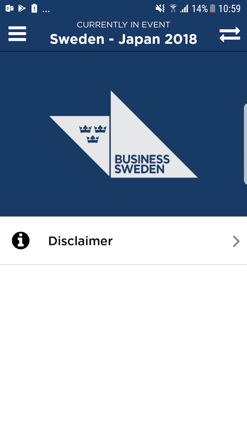 Скриншот Business Sweden Events