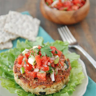 Tuna Cakes with Fresh Tomato Salsa.