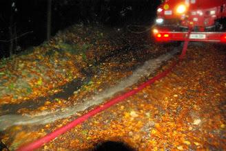 Photo: Po cevi voda iz potoka gor, po hudourniku deževnica dol v potok!