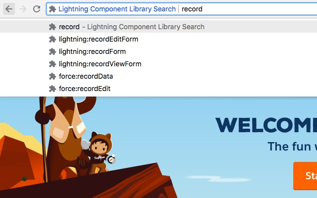 Lightning Component Library Search