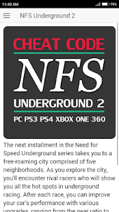Cheat Code For Need For Speed Underground 2 Game Slunecnice Cz