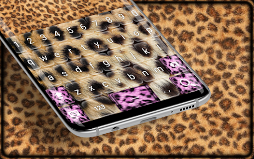 Gold Leopard Keyboard Theme - náhled