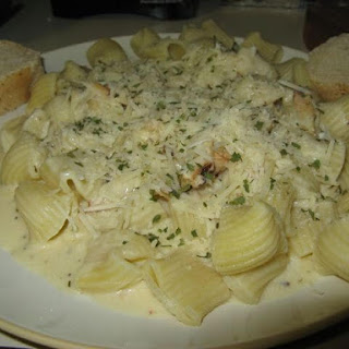 Imitation Crab Alfredo with Penne Pasta Recipe