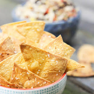 Baked Spicy Chili Lime Tortilla Chips (Gluten-Free).