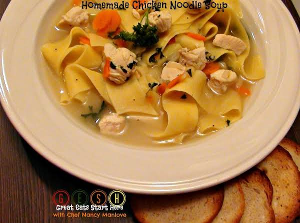 That Magical Liquid - Homemade Chicken Noodle Soup