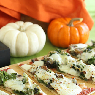 Mushroom and Kale Flatbread Pizzas