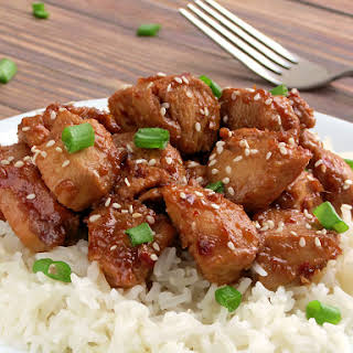 Easy Bourbon Chicken.