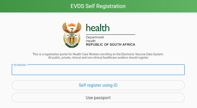 Entry into the online registration system is gained by one entering their ID or passport number.