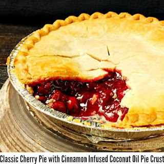 Classic Cherry Pie with Coconut Oil Pie Crust