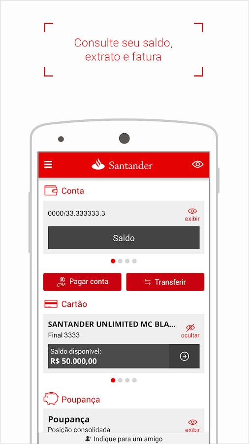Screenshots of Santander Brasil for iPhone