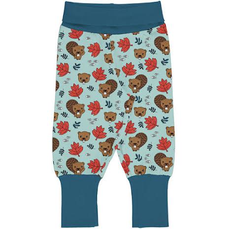 Maxomorra Rib Pants Beaver Friends