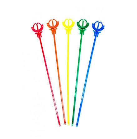Ballongpinnar 10-pack - regnbåge