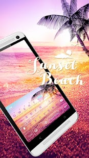 Sunset Beach Kika Keyboard - náhled
