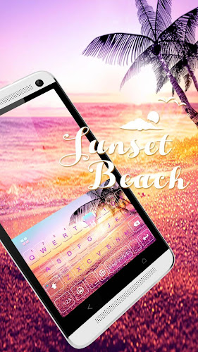 Sunsetbeach Keyboard Theme Android App Screenshot