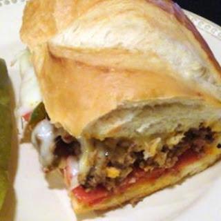 Super-size Stromboli Sandwich.