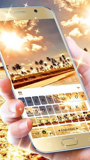 golden sunset keyboard theme screenshot 2