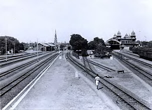 Photo: Egmore Railway station & St.Andrews Church