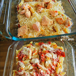 Three Cheese Pasta and Chicken Bake