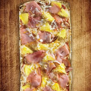 Thin Crust Hawaiian Pizza.