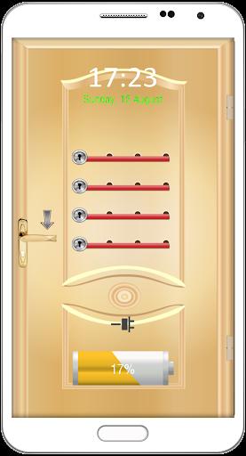 ドアのパスワードロック