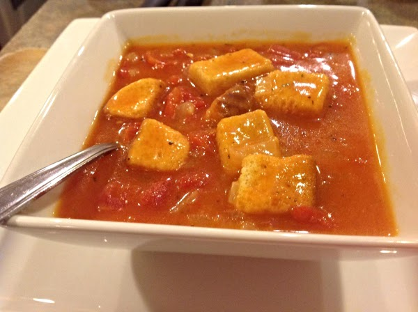Note may choose to add croutons to individual bowls of soup. serve and enjoy....