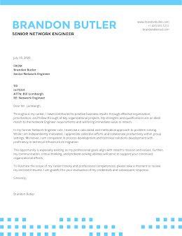 Brandon Butler - Cover Letter item