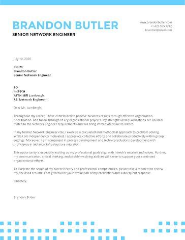 Brandon Butler - Cover Letter template