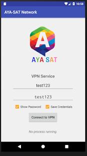 AYA-SAT Network VPN - náhled