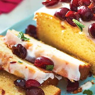 Glazed Lemon Half-Pound Cake with Cherries.