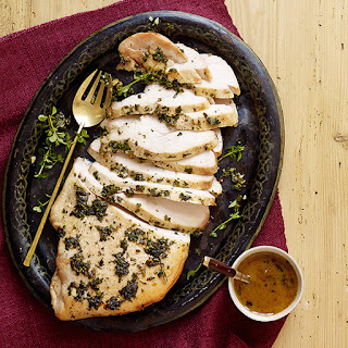 Herbed Turkey Breast with Wine Sauce