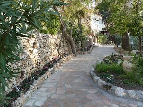 """Photo: The garden area of the """"Garden Tomb""""."""