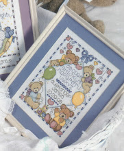 Photo: Joan Elliott's Baby Bears Sampler. Done for my nephew in December 1999,  but I don't have a picture of it finished.