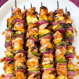 Hawaiian Chicken Kebabs.