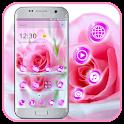 Pink Beautiful Rose Love Theme icon