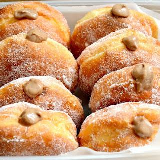 Chocolate Custard-Filled Doughnuts.