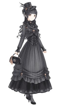 黒ドレスの令嬢