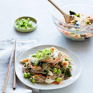 Noodle Salad with Crab & Veggies.