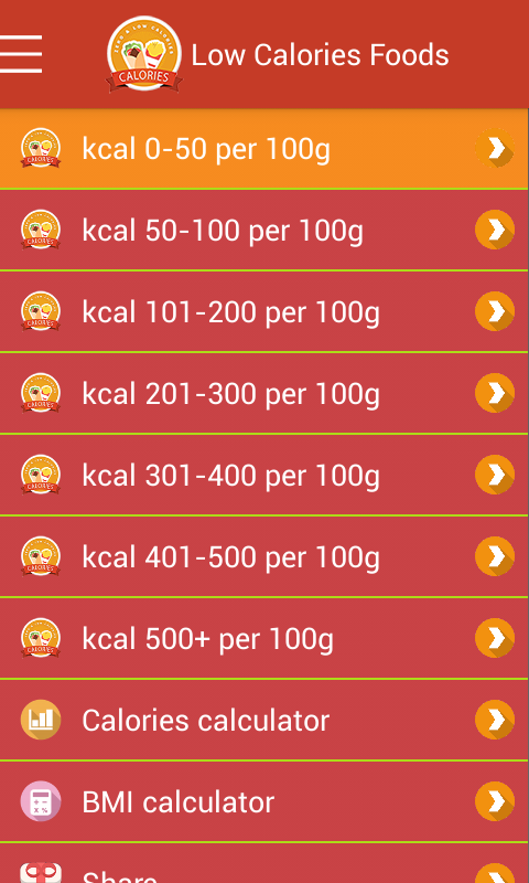 Zero low calories foods android apps on google play for Cuisine 0 calorie