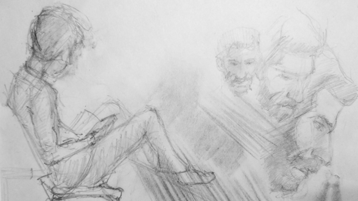 Малюнок колеги з портретом Вадима, зроблений під час ув'язнення
