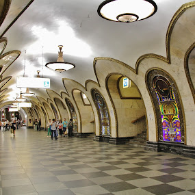 Moscow Metro by João Branquinho - Buildings & Architecture Public & Historical ( passenger, moscovo, russia, subway, metro, moscow, underground )