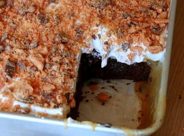 Butterfinger Caramel Chocolate Cake Recipe