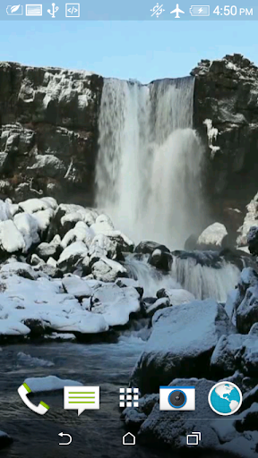 滝3Dビデオ壁紙