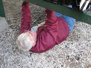 Photo: Gil Freitag working on his air brakes.  HALS 2009-0228