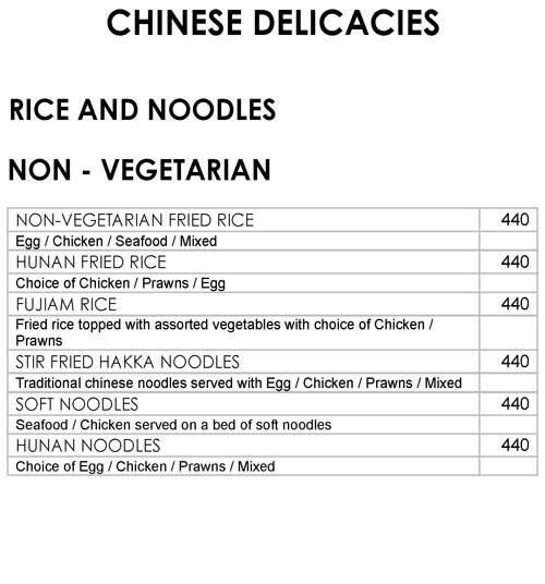 Oriental Bowl, Ramada Palmgrove menu 5