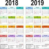 Tải التقويم الميلادي 2018 miễn phí