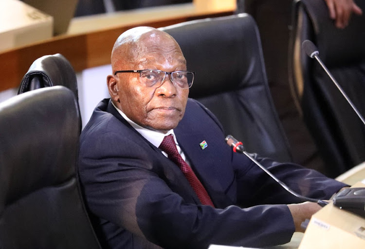 Former president Jacob Zuma appearing at Zondo commission. File image