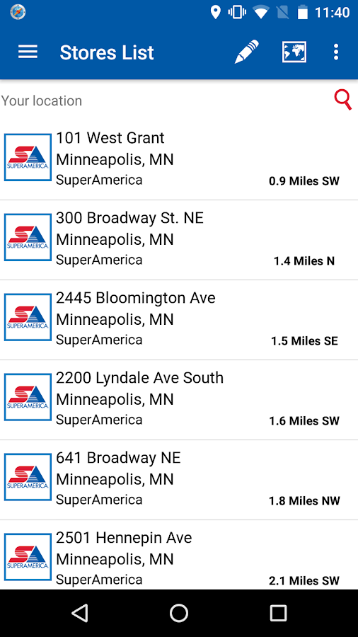 SuperAmerica Deals- screenshot